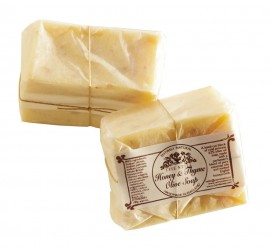 Handmade Olive Oil Soap; Honey and Thyme